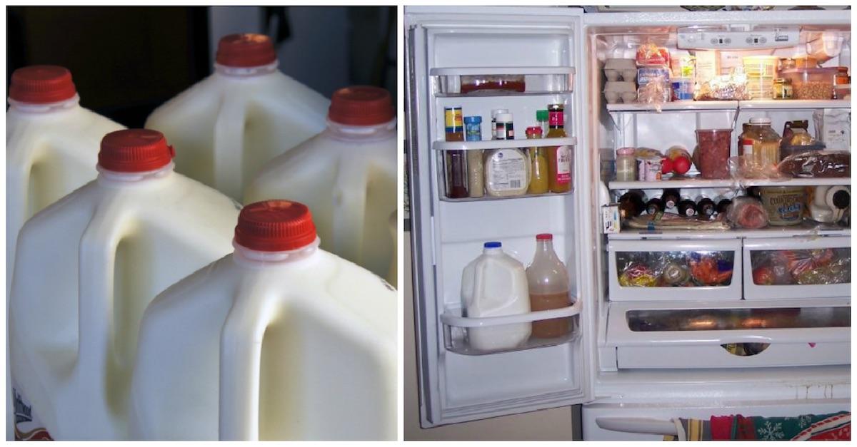 37c954623de8738d940223301fe8e727 - اخذري وضع جالون الحليب في باب الثلاجة للاسباب التاليه