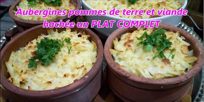 Capture 1 2 - Aubergines pommes de terre et viande hachée un PLAT COMPLET