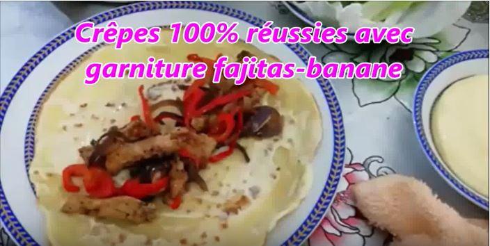 Capture2 - Crêpes 100% réussies avec garniture fajitas banane