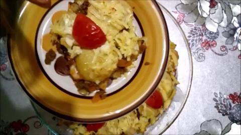 و اللحمة المفرومة طبق متكامل سهل و لذيذ - البطاطا و اللحمة المفرومة طبق متكامل سهل و لذيذ